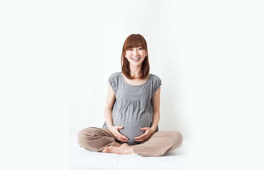 幸せな妊婦さん